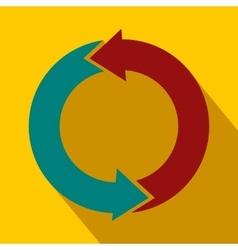 Refresh arrows flat icon vector image vector image
