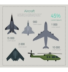 Set of Military Aircraft vector image