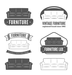 Set of vintage logo badgeemblem and logotype vector image vector image