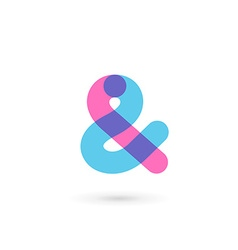 Symbol and ampersand symbol logo icon design vector