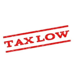 Tax low watermark stamp vector