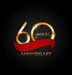 template 60 years anniversary vector image