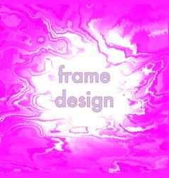 vintage grunge pink frame design vector image vector image
