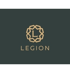 Premium letter l logo icon design luxury vector