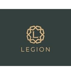 Premium letter L logo icon design Luxury vector image