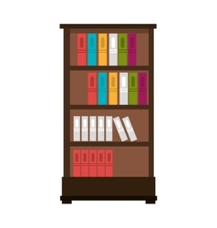 Library books case isolated vector