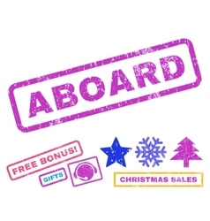 Aboard rubber stamp vector