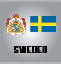 Official government elements of sweden vector