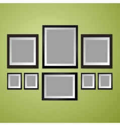 Colorful wall with empty picture frame vector