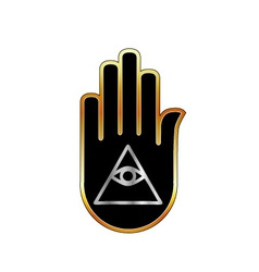Eye of providence in hand- religious symbol vector