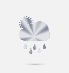 Cloud rain with sun the weather icon vector