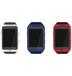 Smartwatch icon set vector image