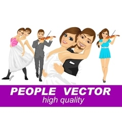 People with various characters vector