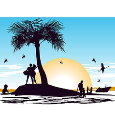 Paradise on the island vector