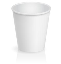 Empty cardboard cup vector