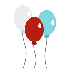 Balloons icon isolated vector