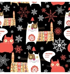 Beautiful Russian cat pattern vector image