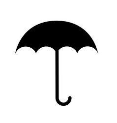 Black icon umbrella cartoon vector