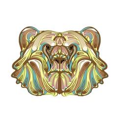 brown bear ethnic vector image vector image