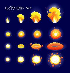 Cartoon Explosion Set vector image vector image