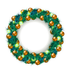 Christmas wreath isolated on white vector