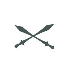 cross swords icon flat vector image