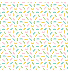 Cute colorful confetti seamless pattern background vector