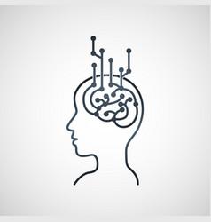 digital transformation logo vector image vector image