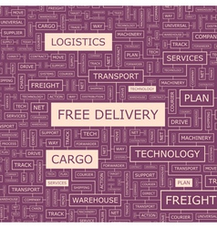 FREE DELIVERY vector image