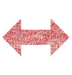 Horizontal exchange arrows fabric textured icon vector