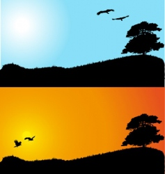 landscape backgrounds vector image