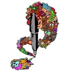 Pen doodle vector