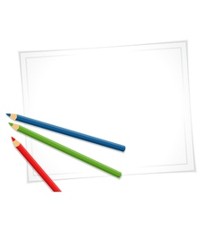 pencils and paper vector image vector image