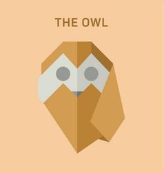 polygon animals origami owl vector image vector image