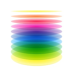 Rainbow cylinder layers vector