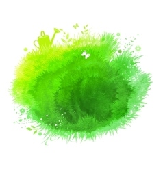 Spring watercolor green background vector image vector image