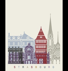 Strasbourg skyline poster vector