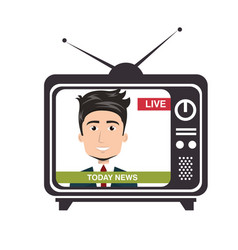 Tv media live streaming vector