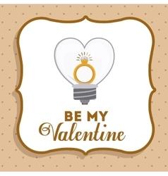 Valentines card design vector