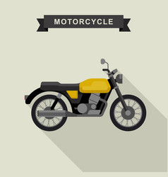 Yellow classic bike vector