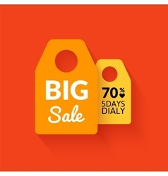 Flat big sale badge vector