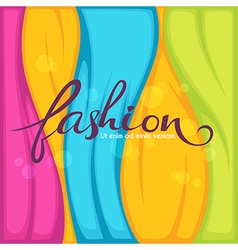 Bright fashion vector