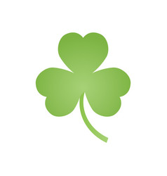 clover emblem decorations for the holiday of st vector image