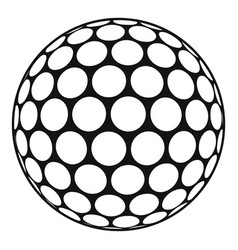 Black and white golf ball icon simple style vector