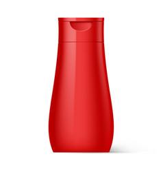 Plastic bottle shampoo packaging vector