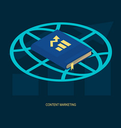 Content marketing web solution vector
