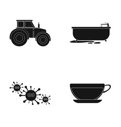 Rest work medicine and other web icon in black vector
