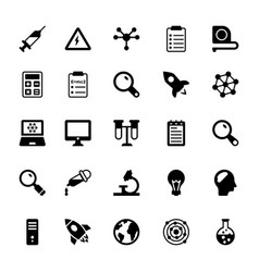 science and technology glyph icons 2 vector image