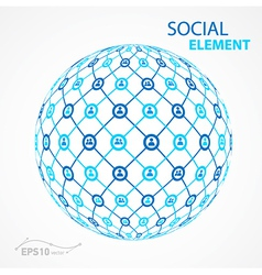 Social element sphere vector