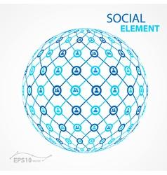 social element sphere vector image